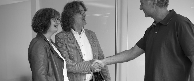 Zahnarzt Dr. Gauchel Düsseldorf Begrüßung BCvision marketing & communication - Dagmar Charbonnier und Ulrich Bergmann-Charbonnier